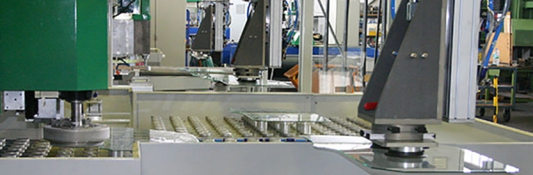 Automatic lines for complete shaped glass processing